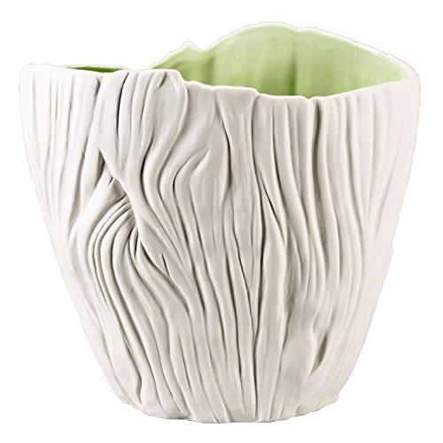 Hutschenreuther 02466-725590-26022 Green Garden Vase mit Struktur, 22 cm, weiß / grün