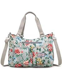 1b62f737a9d0e LUUT Mode Blumenmuster Schultertasche Lässig Shopper Messenger Bag Canvas  Damen Handtaschen Elegant Ethno Henkeltasche