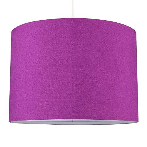 MiniSun – Moderna pantalla de tamaño grande, color morado y forma cilíndrica – para lámpara de techo o lámpara de mesa