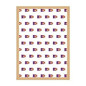 Quercia Colore Cornice, Poster Dimensione, 61 x 91.5 cm,