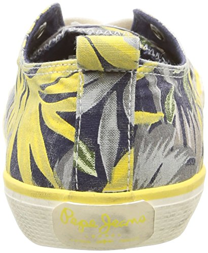 Pepe Jeans Industry Low Vett, Baskets Basses Femme Bleu (580 Sailor)