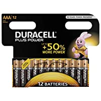 Duracell Plus AAA Alkaline Batteries [Pack of 12], 1.5 V LR03 MN2400 9