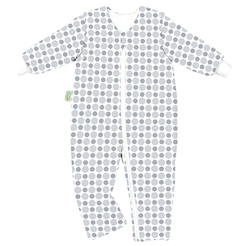 Preisvergleich Produktbild Odenwälder Jersey-Schlafoverall Hopsi Kreise silver & grey,  Größe:98 / 104