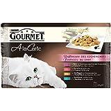 Gourmet a la Carte Katzenfutter Raffinessen des Küchenchefs, Sardine, Ente, Geflügel, Forelle, 48er Pack (12 x 4 x 85 g) Beutel