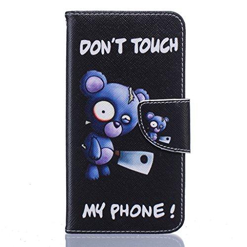 iPhone 6Custodia, iPhone 6S Custodia, con protezione schermo,], qimmortal antigraffio Custodia posteriore morbida in silicone, elegante stampato Cute Disegno colorato staccabile pu flip portafoglio i Blue