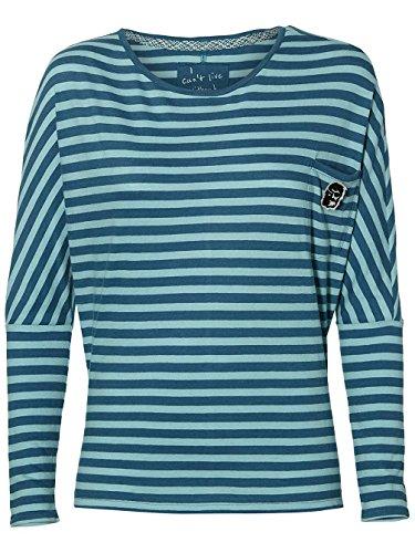 O'Neill Damen Longsleeve ESS Striped T-Shirt LS Shirts & Blusen, AOP w/Green, XS -