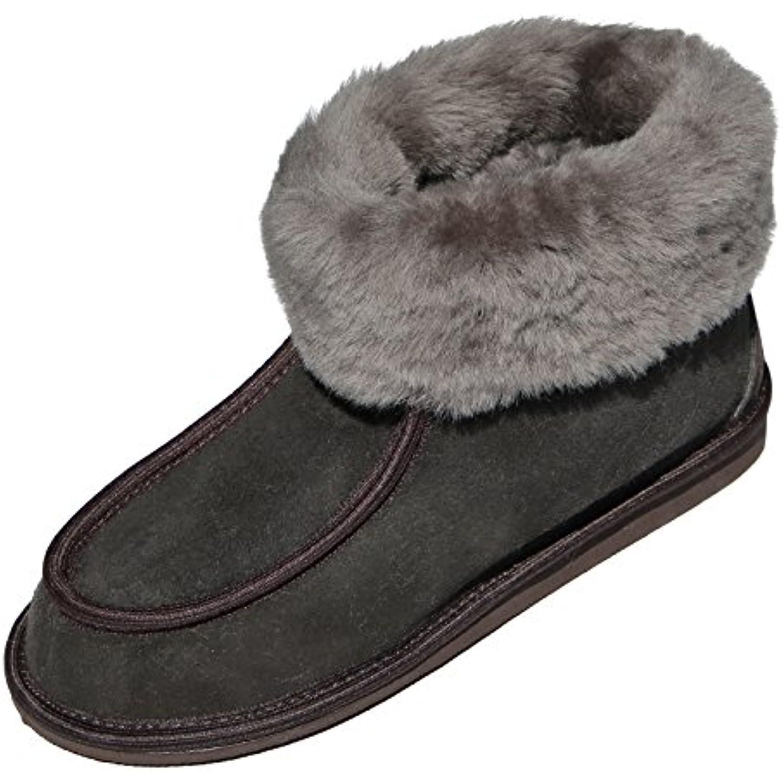 Peau de - mouton Chaussons - de ADAM Femmes Chaussures avec laine Cuir v  eacute  537bf245a517