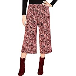 Michael Michael Kors Womens Printed Pleated Cropped Pants Pink XL