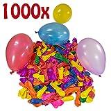 Belmalia 1000 Wasser-Bomben Mega-Pack Bunte Wasserballons in Rot Gelb Lila Blau Orange Pink Grün -