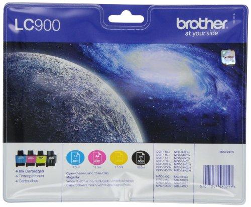 Brother LC-900 Original Tintenpatronen Value Pack (kompatibel mit verschiedenen Brother DCP- und MFC-Modellen) -