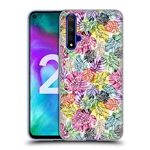 Head Case Designs Offizielle Ninola Tropische Blaetter Botanisch 2 Soft Gel Huelle kompatibel mit Huawei Honor 20 -