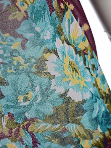 Nouveau Femmes Plus Size en mousseline de soie à manches kimono Tassel Poncho Gilet Hauts 44-54 Blue Purple
