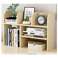GAOQQI-Sling Bookshelf Book Shelf Organizer Office Living Room Desktop Shelf Stable Durable, 3 Colors (Color : B, Size : 57.5X15X36CM)