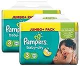 Pampers Baby Dry Größe 3 Midi 4-9kg Jumbo Plus Pack (2 x 90 Windeln)