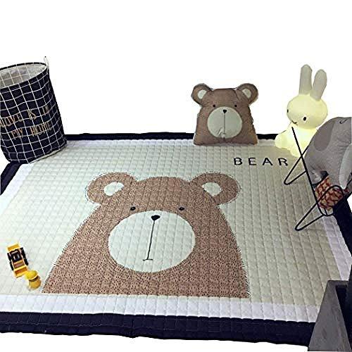 LUZHIWEI Baby Krabbeldecke Cute Giraffe Spielteppich Kinder Schlafzimmer Dekor Wohnzimmer Teppiche@Bär