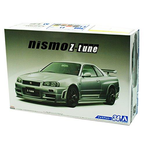R34-modell-kit Gtr (Nissan Skyline R34 GT-R Nismo Z-Tune Grau 1998-2002 Kit Bausatz 1/24 Aoshima Modell Auto Modell Auto)