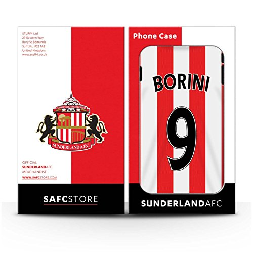 Offiziell Sunderland AFC Hülle / Matte Snap-On Case für Apple iPhone 4/4S / Pack 24pcs Muster / SAFC Trikot Home 15/16 Kollektion Borini