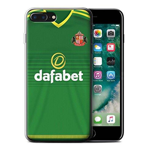 Offiziell Sunderland AFC Hülle / Gel TPU Case für Apple iPhone 7 Plus / Watmore Muster / SAFC Trikot Away 15/16 Kollektion Fußballer
