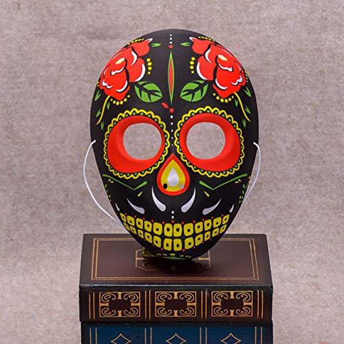 Halloween Schädel Maske bemalt Peking Opera Maske FullFace Party Erwachsene Kinder Terror wunderschöne Lieferungen Ghost Masquerade Day Dead, Maske