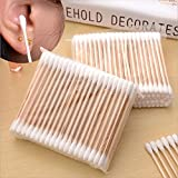 5 Packs Women Beauty Makeup 100% Cotton Swab Cotton Buds Make Up Double-head Wood Sticks Ears Cleaning Cosmetics...