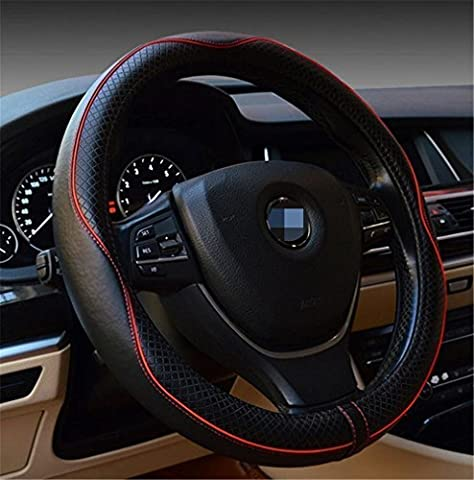 Car Leather Steering Wheel Covers Universal 15 inch Breathable Anti-slip