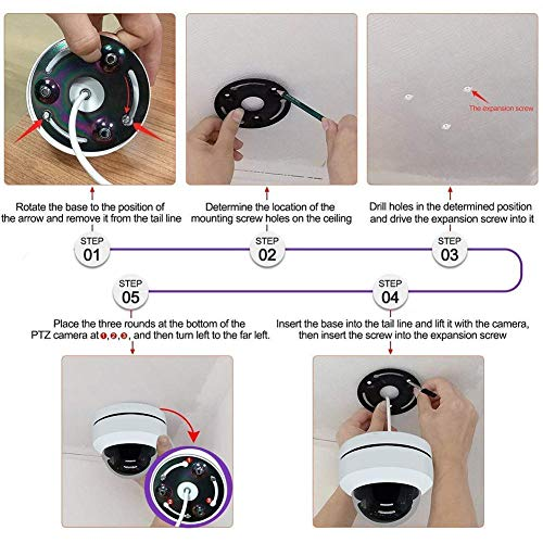 1080P PTZ überwachungskamera WLAN Aussen, Ctronics WLAN IP Kamera WiFi mit 3X Zoom Optisch, Bewegungserkennung, Email Alarm, IP 66 Wasserdicht
