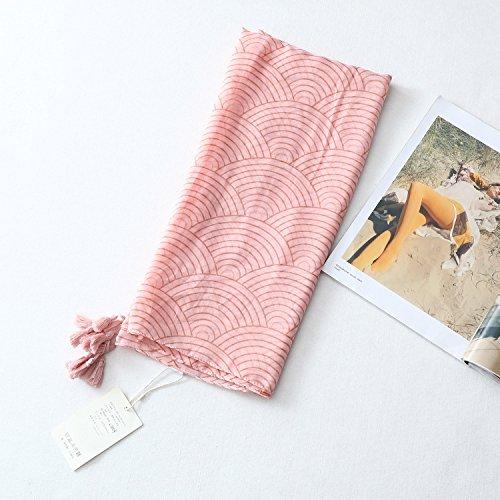 YOUR LIFE Seidenschal Schal Retro National Wind im Herbst und Winter Tourismus National Wind im Herbst und Winter Baumwolle warmen Stempel Badeort ist eine halbe Umdrehung pink 0 cm (Halbe Umdrehung)