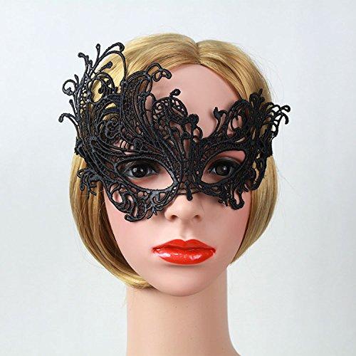 Ballsaal Haarnadel Haarschmuck Spitze Mask_Sexy Spitze Maske Schwarze weibliche Hälfte Gesicht Geschmack Weihnachten Masquerade Princess (Weiblich Weihnachten Elfen)