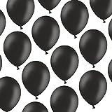 100 Luftballons - 23 cm - Pastell Schwarz - Formstabil - Kleenes Traumhandel®