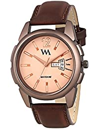 Watch Me Day Date Collection Brown Dial Brown Leather Strap Watch For Men And Boys DDWM-031 DDWM-031rto1