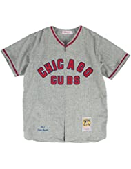 Ernie Banks Chicago Cubs Mitchell & Ness Authentic MLB 1957 Zip Front Jersey Maillot