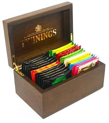 Twinings Coffret à thé avec 2 compartiments et 24 sachets de thé noir et fruité Twinings