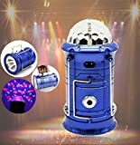 #7: Led rechargeable lantern with special dj disco stage light and torch and usb charging port