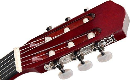Classic Cantabile AS-851 1/2 Konzertgitarre Starter Set (Komplettes Anfänger Set mit Klassik Gitarre, Gigbag Tasche, Nylonsaiten, Lehrbuch/Schule inkl CD und DVD, 3x Plektren und Stimmpfeife) - 7