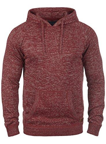 BLEND Danny Herren Kapuzenpullover Strickpullover aus weicher Baumwoll-Mischung, Größe:M, Farbe:Andorra Red (73811)