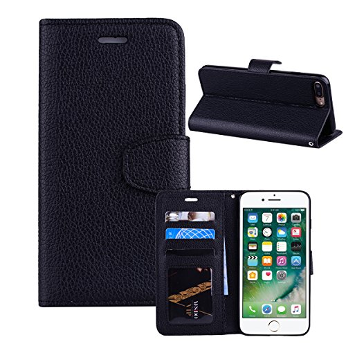 Portafoglio in pelle PU custodia con carta slot iPhone 7case, Dianpum [cinturino] Flip Folio [cavalletto funzione] portafoglio in pelle PU custodia con carta d identità e tasche per iP