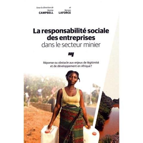 La responsabilité sociale des entreprises dans le secteur minier : Réponse ou obstacle aux enjeux de légitimité et de développement en Afrique ?