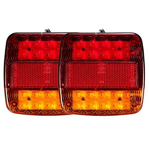 La Seguridad luz de Marcha atr/ás Caravana luz indicadora de Giro luz Nocturna Super Brillo Luz Trasera LED de 12V // 24V luz de Freno Remolque Color : 24V etc