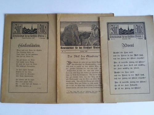 Gemeindeblatt für das Kirchenspiel Winsen Luhe  3  Jahrgang, Hefte 9,10,12   Drei Hefte