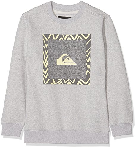 Quiksilver Generaldunayth Otlr Sjsh Sweat-Shirt Garçon, Limestone/Heather, FR : L (Taille Fabricant : 14)
