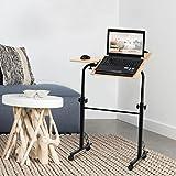 COSTWAY Laptoptisch Notebooktisch Notebookständer Schreibtisch Rolltisch Ständer Sofa Bett Tablett Computer Tisch