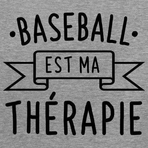 Le Baseball est ma thérapie - Femme T-Shirt - 14 couleur Gris