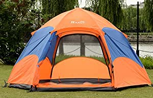 Hanlu HL-8206-2 Portable Double Layer 3-4 Persons Quick Installation Hexagonal Tent