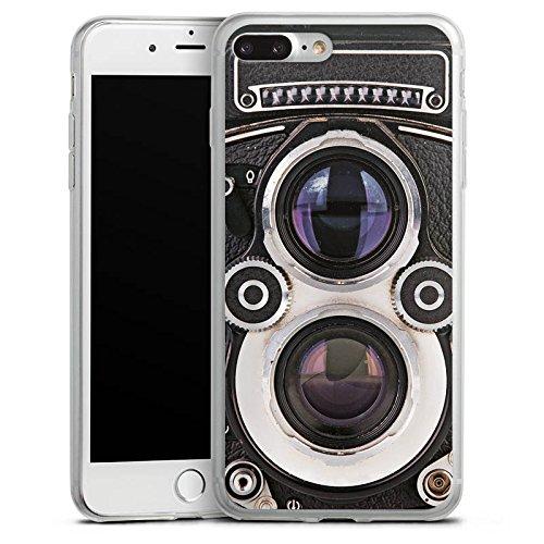 Apple iPhone 8 Slim Case Silikon Hülle Schutzhülle Kamera Fotografie Retro Silikon Slim Case transparent