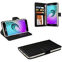 eFabrik Bookstyle Case pour Samsung Galaxy A3 (2016) Housse de protection Smartphone Cover similicuir noir
