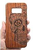 RoseFlower Samsung Galaxy S8 Plus Holzhülle - Palisander Schädel - NatürlicheHandgemachteBambus / Holz Schutzhülle