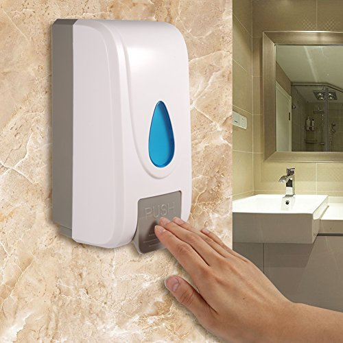 GLOGLOW Soap Dispenser,1000ML Soap Lotion Dispenser Wall Mounted Shower Shampoo Liquid Box for Kitchen Bathroom Toilet Hand Cleanser Dispenser