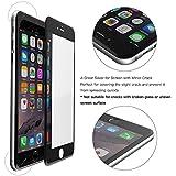 Ganvol (Lot de 2) iPhone 6 / 6S 3D écran en Verre Trempé, Protection plein écran, Films de Protection [Full Screen], Hybrid Polycarbonate Rim, 3D Touch Compatible, Noir