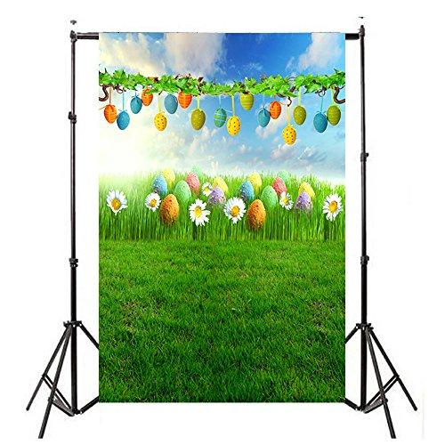 Ostern Fotohintergrund - WQIANGHZI 3D Hintergrund Fotografie -Sammelthemen Süß und Schön - Waschbar Werbung - Adult Foto Video Studio (B)