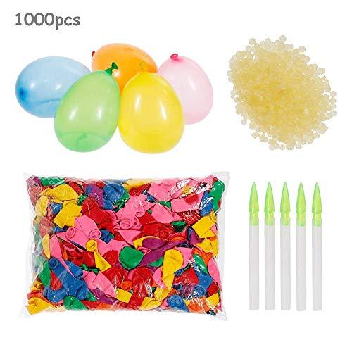 Cyfie 1000 Wasserbomben, Wasserballons mit 1000 Gummibänder und 5 Füllen Instrument
